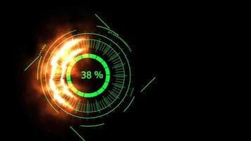 ویدیو فوتیج نمایش درصد دیجیتال سبز رنگ