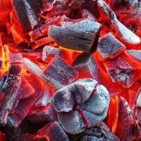 ویدیو فوتیج سوزاندن ذغال سنگ کبابی