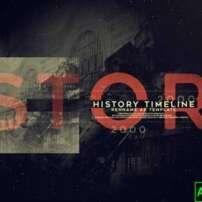 پروژه آماده افترافکت تایم لاین گذشته History Timeline