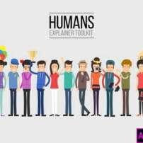 پروژه آماده پریمیر انیمیشن کاراکترهای توضیح دهنده انسان
