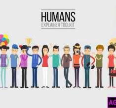 پروژه-آماده-پریمیر-انیمیشن-کاراکترهای-توضیح-دهنده-انسان