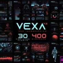 پروژه آماده پریمیر اینفوگرافیک Vexa HUD