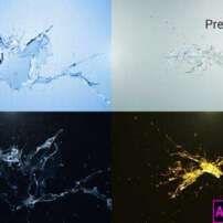 پروژه آماده پریمیر لوگو موشن پاشیده شدن آب Water Splash