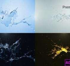 پروژه-آماده-پریمیر-لوگو-موشن-پاشیده-شدن-آب-Water-Splash