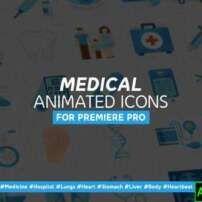 پروژه آماده پریمیر 36 نماد متحرک پزشکی